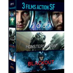 Coffret 3 FILMS ACTION SF BLU-RAY
